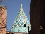 Holy shrine-Conical turquoise roof