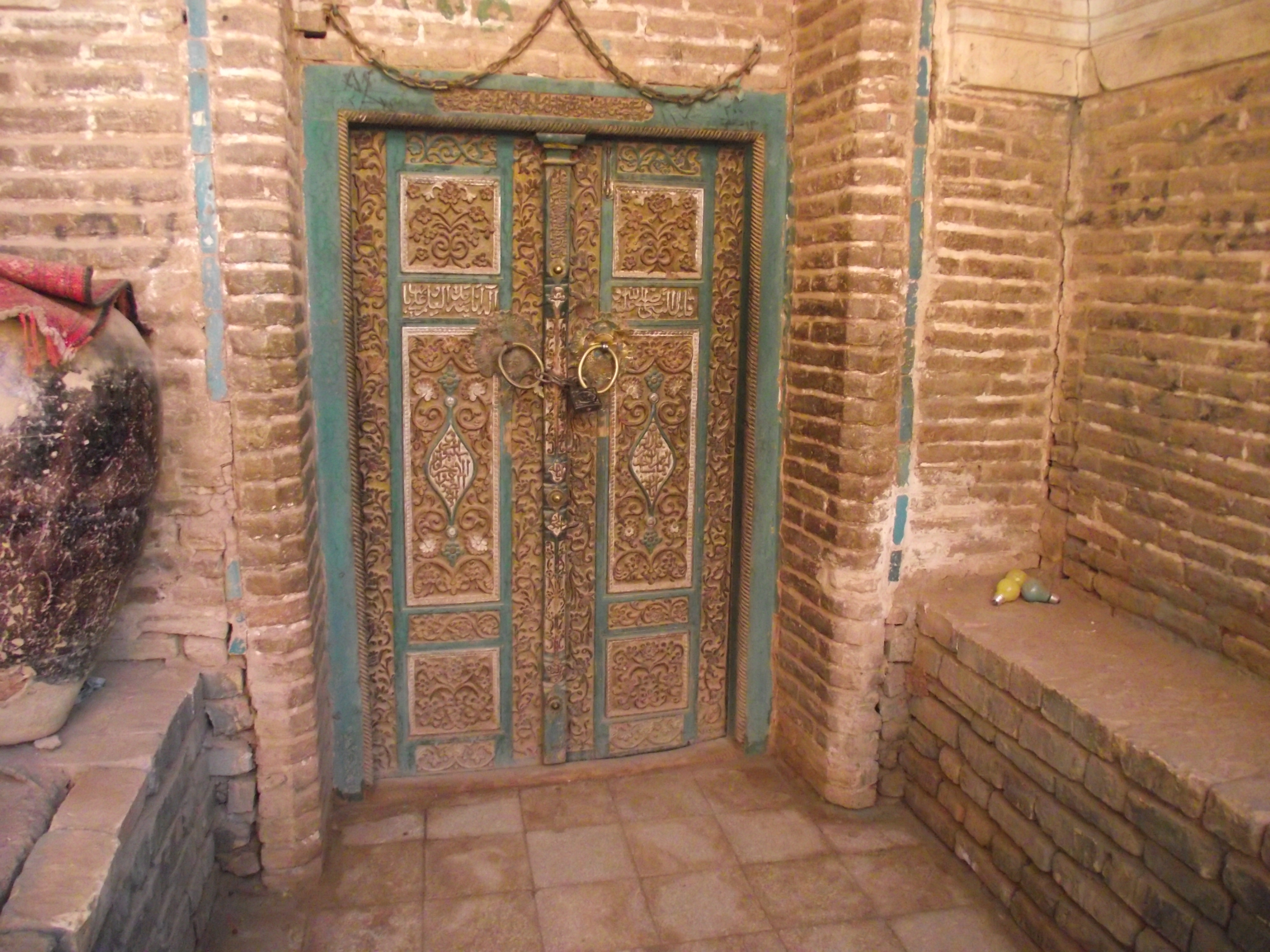 Abyaneh-the red village » Inlaid door-Congregational Mosque & Inlaid door-Congregational Mosque   Persian Posts