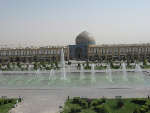 View of Naqsh-e Jahan Square from Ali Qapu verandah