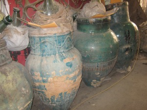 Very old vinegar vats